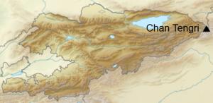 Chan Tengri - mapka