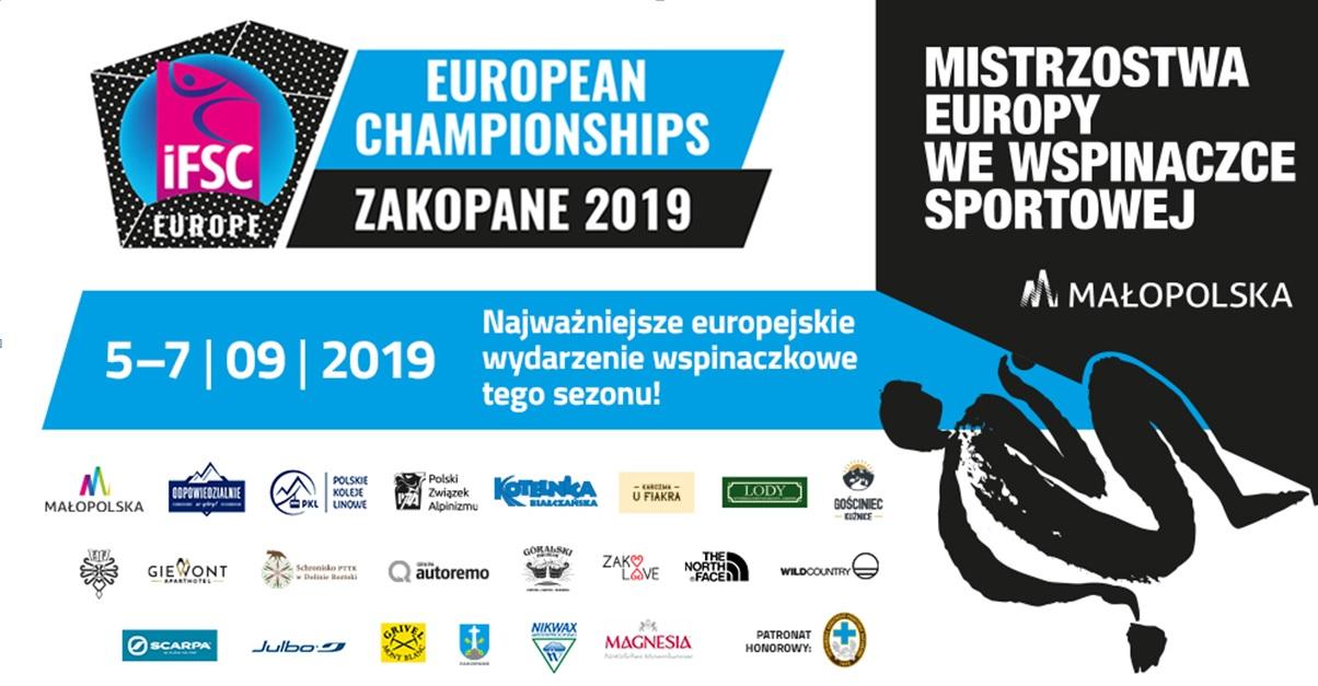 ME we wspinaczce sportowej Małopolska 2019 po raz pierwszy w Polsce