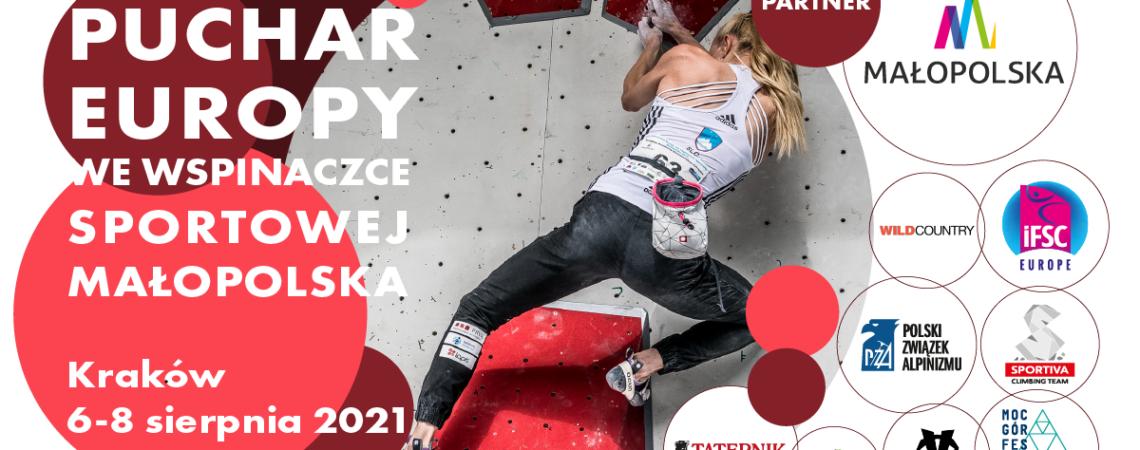 Boulderowy Puchar Europy Seniorów w Krakowie – 6-8 sierpnia 2021